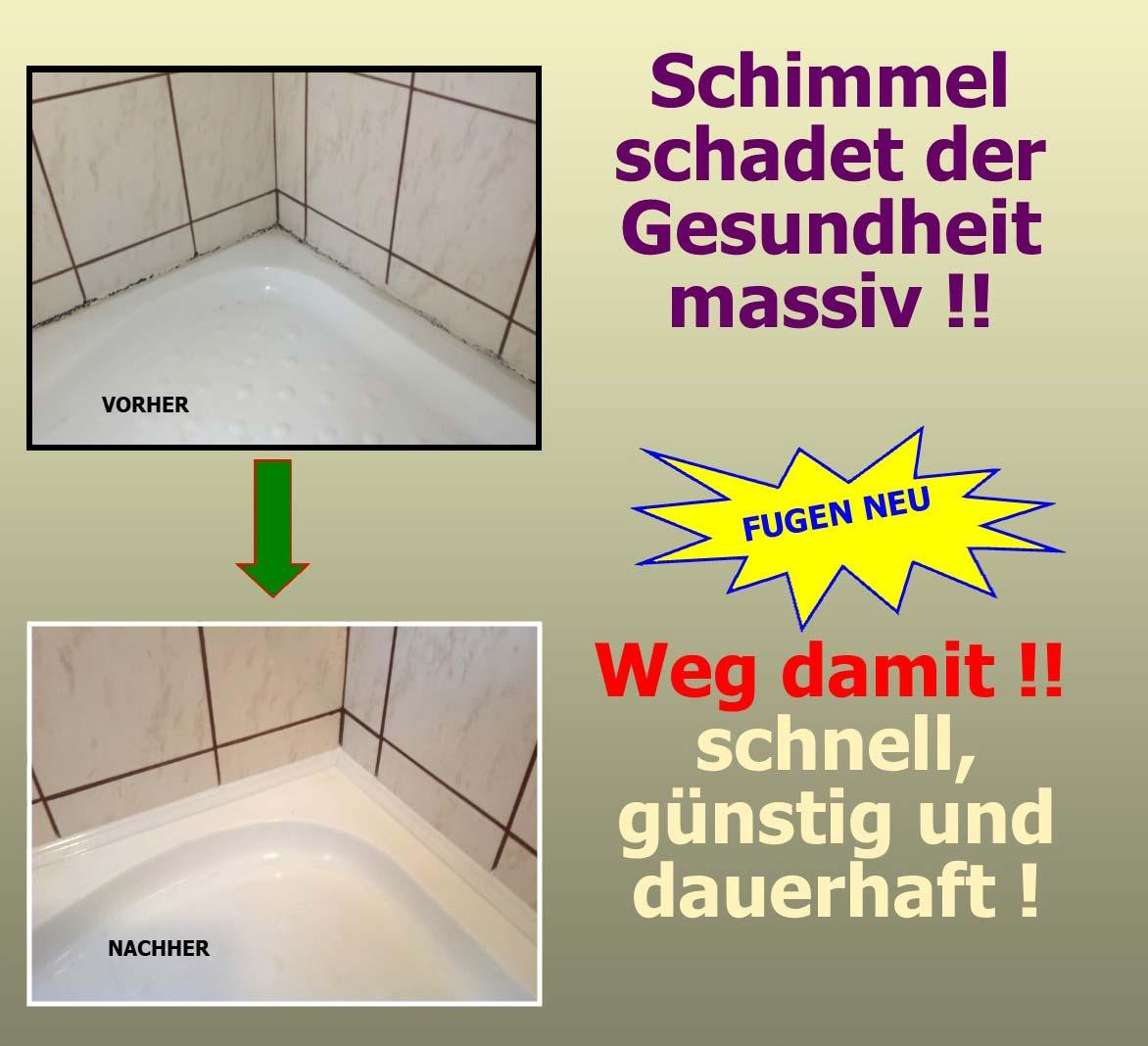 Schimmel im Bad entfernen in Linz & Umgebung
